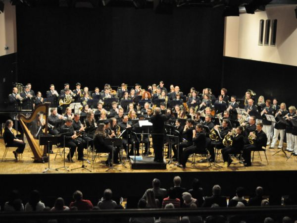 Massed Bands: Stadtkapelle Laupheim and Ohio Northern University Wind Orchestra perform togehter on May 19, 2017